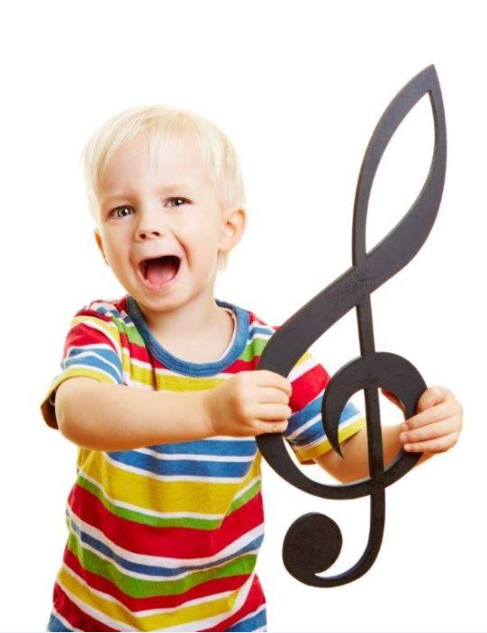 Junge Violinenschlüssel schmal