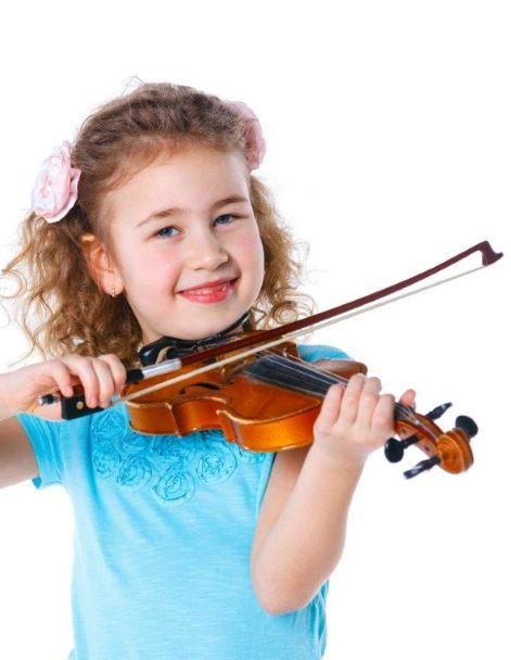 Mädchen Geige schmal